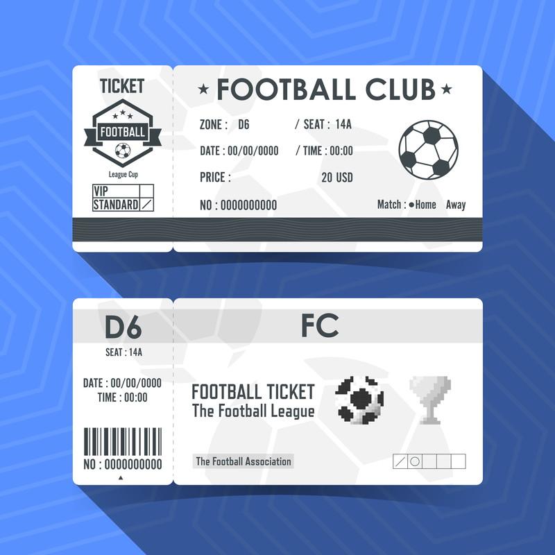 サッカー試合のチケット